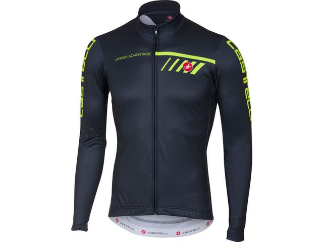Castelli – pánský dres Velocissimo 2 FZ, light black/yellow fluo