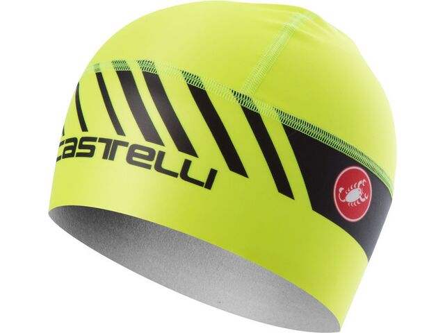 Castelli - čepice Arrivo 3 Thermo Skully, yellow fluo