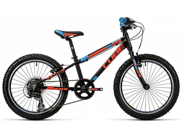 Dětské kolo CUBE KID 200 black flashred blue 2016