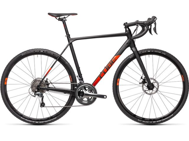 Cyklokrosové kolo CUBE CROSS RACE 2021 black´n´red