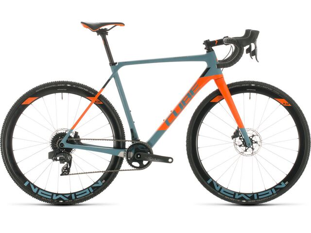 Cyklokrosové kolo CUBE CROSS RACE C:62 SLT 2020 bluegrey´n´orange