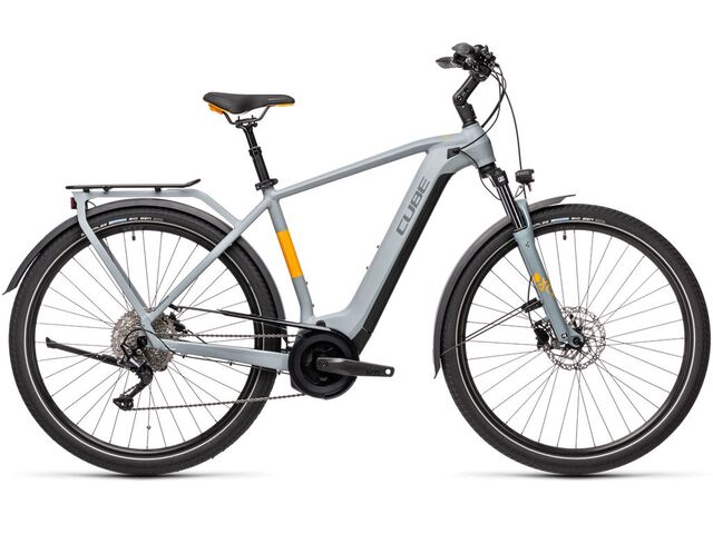 Elektrokolo CUBE TOURING HYBRID PRO 625 2021 grey´n´orange