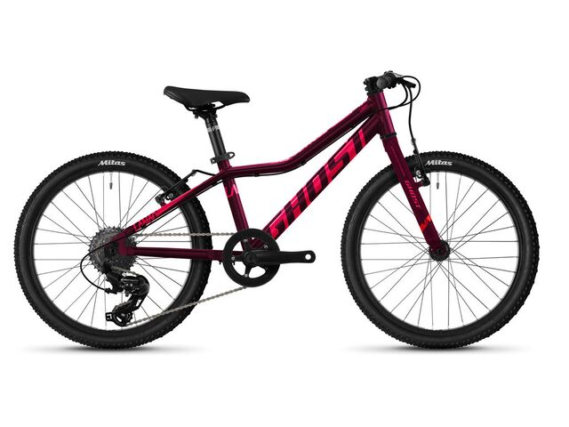 Dětské kolo GHOST LANAO 20 BASE 2021 Blackberry / Electric Pink