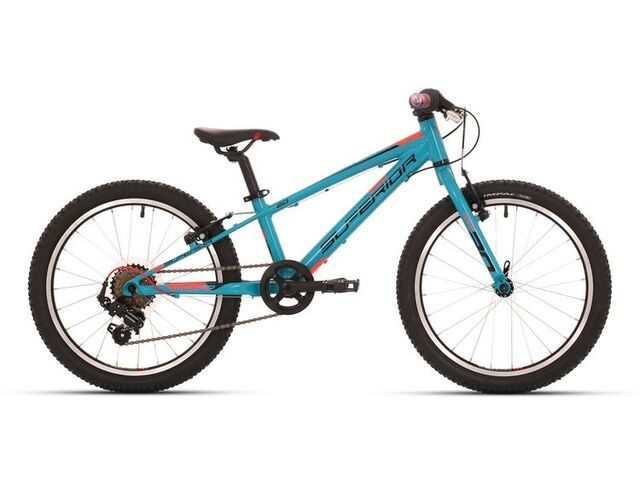 Dětské kolo SUPERIOR RACER XC 20 2018 gloss petrol blue/black/neon red