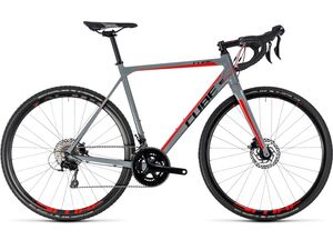 Cyklokrosové kolo CUBE CROSS RACE PRO 2018 grey'n'red