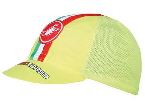 Castelli - čepice Performance Cycling, yellow fluo
