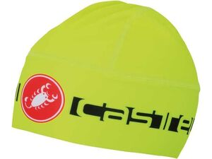 Castelli - čepice Thermo Skully, yellow fluo