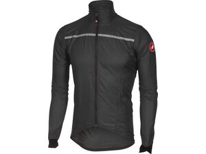 Castelli - pánská bunda Superleggera, anthracite/yellow fluo